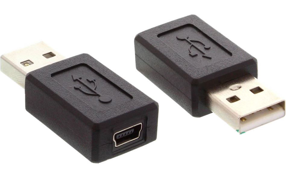 usb 2 0 adapter stecker a auf mini 5pol buchse. Black Bedroom Furniture Sets. Home Design Ideas